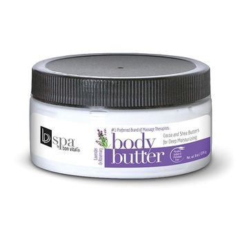 Body Butter by Bon Vital, Spa by Body Butter, Lavender Rosemary Scented Whipped Moisturizer with Cocoa Butter, Shea Butter, and Beeswax, Anniversary Gift for Women, Moisturizer Cream for Soft Skin