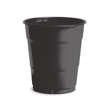 12 oz Solid Plastic Cups Black Velvet/Case of 240