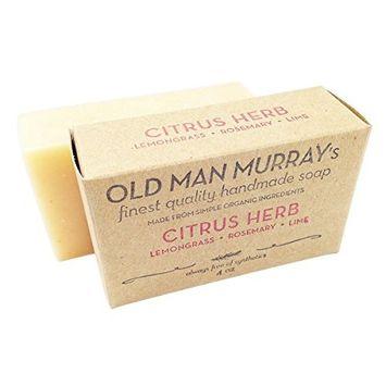 Citrus Herb Lemongrass, Rosemary, Lime All-Natural Soap (2 Bars)