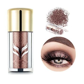 Pevor Glitter Eye Powder Smoked Warmer Pearl Loose Eyeshadow Powder High Pigments Mineral Shimmer Gorgeous Long Lasting Shining Eyeshadow with Exquisite Packing