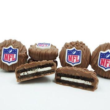 Philadelphia Candies Licensed NFL Football Milk Chocolate Covered OREO Cookies, 8 Ounce Gift Box [NFL Shield Licensed]
