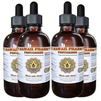 Fenugreek (Trigonella foenum-graecum) Tincture, Organic Dried Fruits Liquid Extract, Hu Lu Ba, Herbal Supplement 4x4 oz