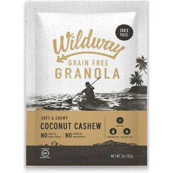 Wildway Grain-free Granola Snack Pack, Coconut Cashew, 4-pack (Certified gluten-free, Paleo, Vegan, Non-GMO)
