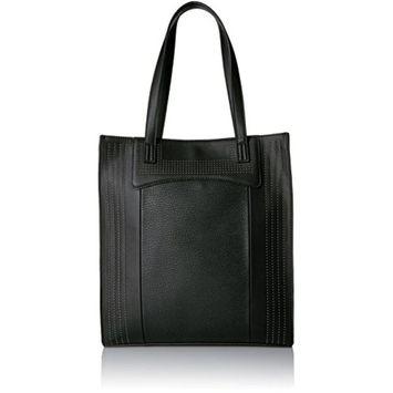 Danielle Nicole Womens Harlow Faux Leather Studded Tote Handbag