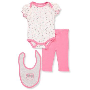 Baby Girls' 3-Piece Layette Set [baby_clothing_size: baby_clothing_size-6-9months]