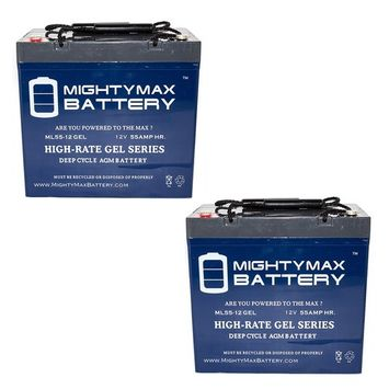 12V 55AH GEL Battery for Drive Medical MEDALIST450RD24CS - 2 Pack
