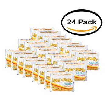 PACK OF 24 - Light 'N Fluffy Medium Egg Noodles, 12 oz