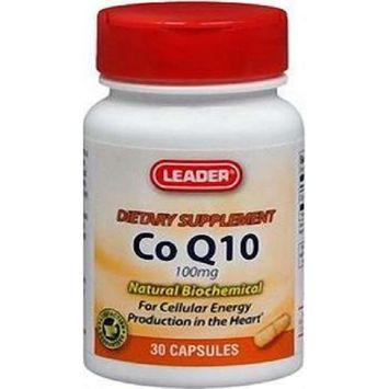 Leader Co Q10 100mg Capsules 30 Ct