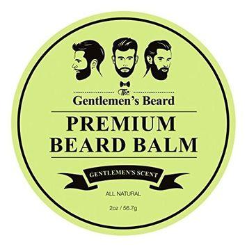 The Gentlemen's Premium Beard Balm Gentlemen's Scent - 2 Oz - Tame Your Beard With No Greasiness - Make It Look Thicker and Fuller