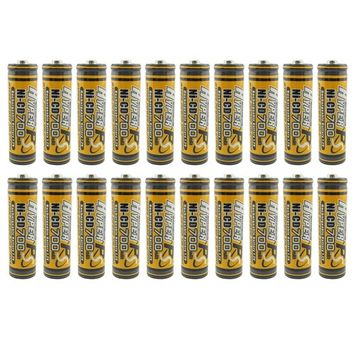 (20-Pack) HyperPS 1.2V AA 700mAh Ni-Cd NiCd Rechargeable Battery for NiCd Solar Panel Light Lamp, RC Toy: Health & Personal Care