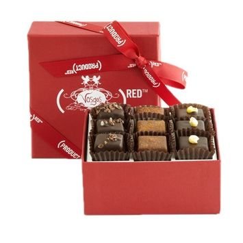 The VOSGES(RED) 9 Piece Chocolate Collection from Vosges Haut-Choco