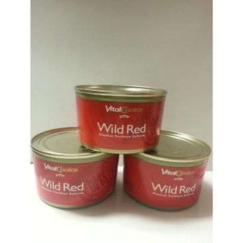 Wild Red Alaskan Sockeye Salmon 7.5 Oz (3 Cans)