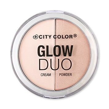 City Color Cosmetics Glow Duo Cream + Powder Palette Highlight