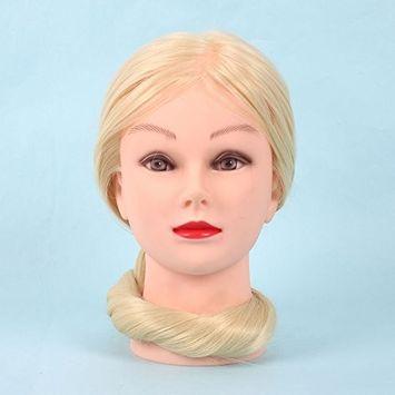 Fdrirect 30% Real Hair Salon Cut Mannequin Training Head 26' Mannequin Women Useful