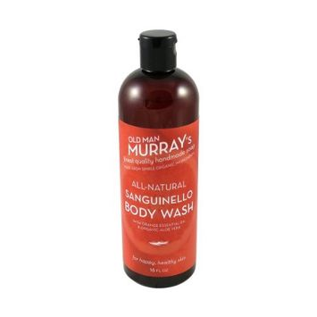Sanguinello All-Natural Body Wash w/ Orange Essential Oil - Handmade w/ Simple Organic Ingredients - No Parabens, Alcohol, Petroleum, Artificial Dyes or Fragrances