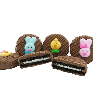 Philadelphia Candies Milk Chocolate Covered OREO Cookies, Easter Faces Assortment Net Wt 8 oz [Easter Faces Assortment]