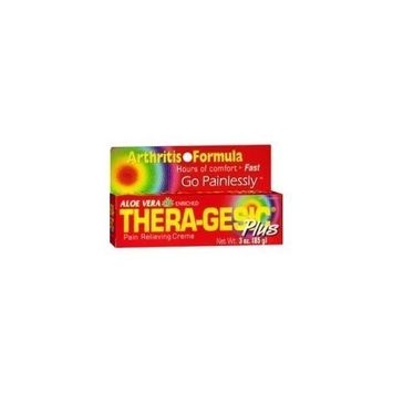 Thera-Gesic Plus Aloe Vera Pain Relieving Cream 3 oz tube (Pack of 2)