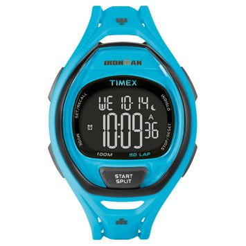 Target Timex Ironman Digital Sleek 50 Lap Digital Watch - Blue, Adult Unisex
