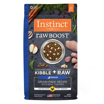 Natures Variety Instinct Nature's Variety Instinct Raw Boost Senior Dog Food - Grain Free, Freeze Dried Raw, Chicken size: 4 Lb
