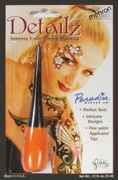 Mehron Paradise Makeup AQ Detailz Liquid Makeup - Orange