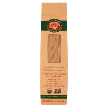 Spruce Foods Montebello, Pasta Spaghetti Org Whole Wheat, 16 Oz (Pack Of 12)