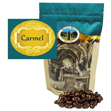 Mystic Monk Coffee: Carmel Whole Bean (Flavored 100% Arabica Coffee) - 12 ounce bag