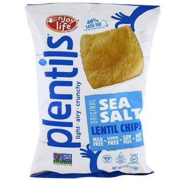 Enjoy Life Foods, Plentils, Sea Salt Lentil Chips, Original, 4 oz (pack of 12)