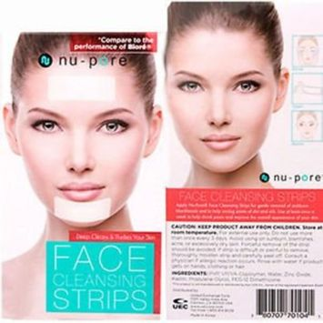 (PACK OF 2, 6 STRIPS) NU-PORE FACE CLEANSING STRIPS, blackhead remover, blackhead mask : Beauty