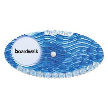 Boardwalk Curve Air Freshener, Cotton Blossom, Blue, 10/Box -BWKCURVECBL
