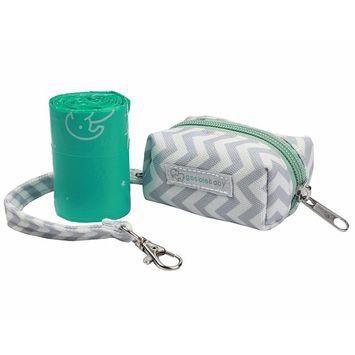Goobie Baby Diaper Bag Dispenser, Includes Roll of Unscented Disposable Refill Bags | Waste Bag Holder for Stroller