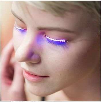 UCLL Flashes Interactive LED Eyelashe LED Light Eyelash Shining Eyeliner Waterproof Eyelid Tape Charming
