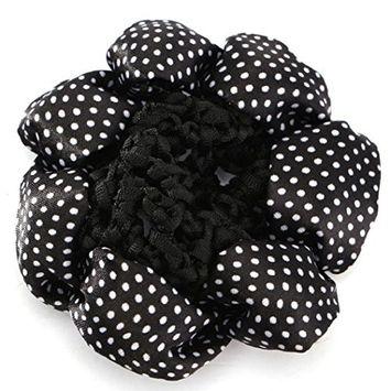 Polytree Women Polka Dots Bun Cover Hair Snood Ballet Dance Crochet Hair Net