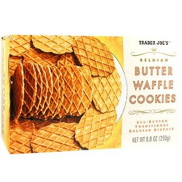Trader Joe's Butter Waffle Cookies 8.8 oz (Pack of 2)