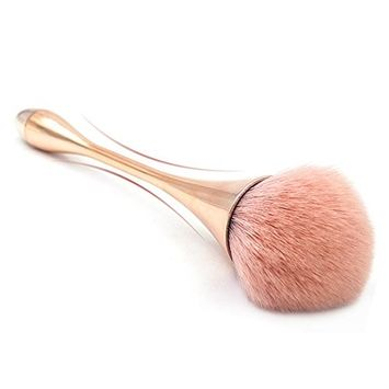Powder Brush Foundation Makeup Brush Large Fluffy Face Blush Brushes for Makeup (Pink)