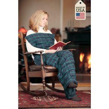 Body Blanket - Microwave Hot Pack - Black Watch Plaid - by Grampa's Garden