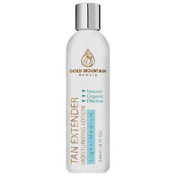 Self Tanner Tanning Lotion - Organic and Natural Ingredients. Extend Sunless Tan while Moisturizing Skin. Buildable Golden Bronzer for a desired Light, Medium, or Dark Natural Looking Streak Free Tan