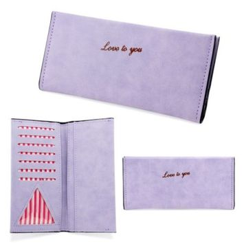 Fashion Women Lady Flip Wallet Soft Leather Clutch Card Holders Purse Lady Long Handbag