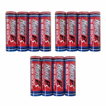 (4-Pack) HyperPS 1.2V AA 1800mAh Ni-MH Rechargeable Battery for High-Drain Devices, Quick Charge (Flat Top w/Soldering Tabs): Health & Personal Care