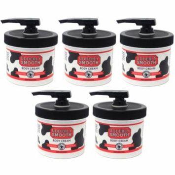 5 Pack Udderly Smooth Body Cream Original Formula Jar Pump 10 Ounce Each