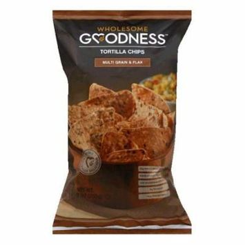 Wholesome Goodness Multi Grain & Flax Tortilla Chips, 9 Oz (Pack of 8)