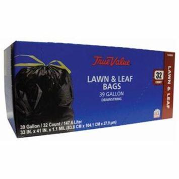 Berry Global 1221751 Lawn & Leaf Trash Bags, Black, 32-Ct., 39-Gal.