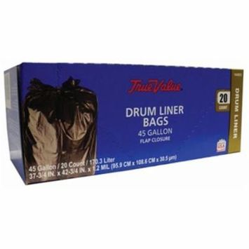 Berry Global 1221765 Clean Up Trash Bags, Extra Large, Black, 45-Gal., 20-Ct.