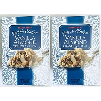 Just The Clusters Vanilla Almond Granola Cereal 16 oz. (Pack of 2 bxs)