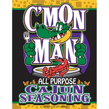 C'Mon Man All Purpose Cajun Seasoning, 8 Ounces