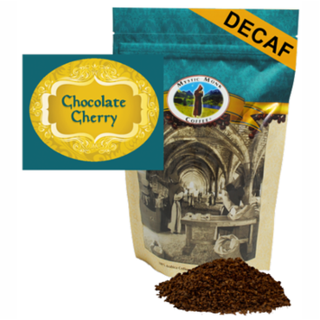 Mystic Monk Coffee - Chocolate Cherry Decaf - Flavored Ground Coffee