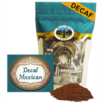 Mystic Monk Coffee - Decaf Mexican - Mild Roast Ground Coffee