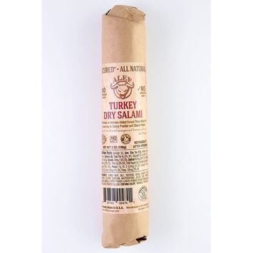 Uncured All Natural Turkey Dry Salami (2 units 7 oz. each)