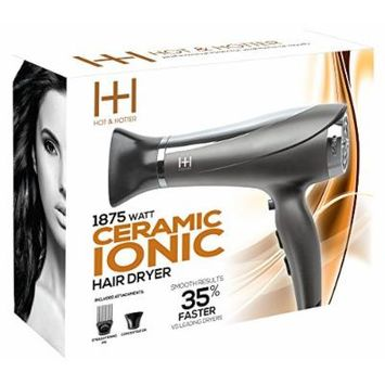 Annie H and H Ceramic Ionic 1875 Hair Dryer, Grey