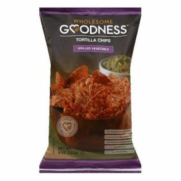 Wholesome Goodness Grilled Vegetable Tortilla Chips, 9 Oz (Pack of 8)