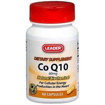 Leader Co Q10 Vitamin Capsules 60 mg, 60 ct